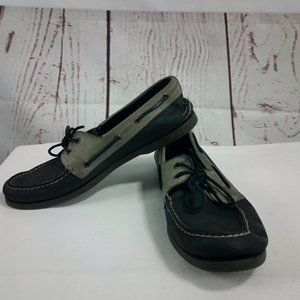 Sperry Top Sider Men's Black Gray Boat Shoes